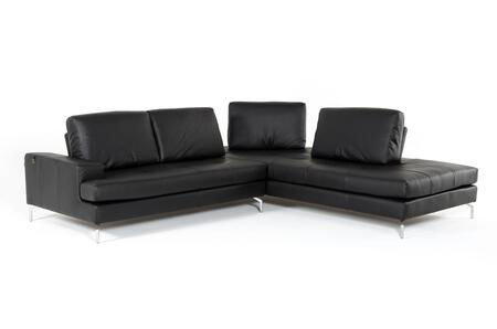 VIG Furniture Estro Salotti Voyager VGNTVOYAGERBLK Sectional Sofa Black, Main Image