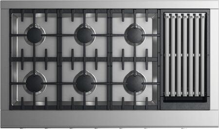 Fisher Paykel Professional CPV2486GLNN Gas Cooktop Silver, Top view