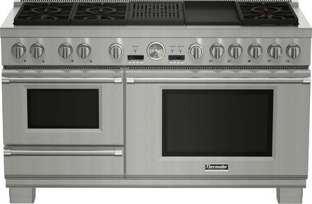 Thermador Pro Grand PRD606RESG Slide-In Dual Fuel Range Stainless Steel, PRD606RESG 60-Inch Commercial Depth Dual Fuel Steam Range