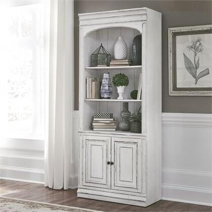 Liberty Furniture Magnolia Manor 244HO201 Bookcase White, Main view