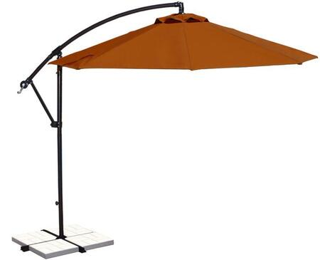 Blue Wave NU6400TC Outdoor Umbrella Orange, Image of Open Canopy with Terra Cotta Olefin Colored Fabric