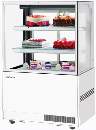 Turbo Air TBP3654FNW Display and Merchandising Refrigerator White, TBP3654FNW Angled View