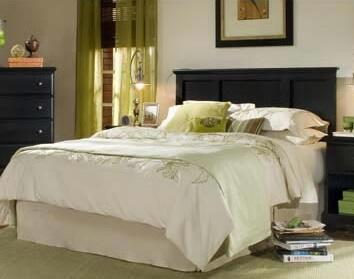 Carolina Furniture Midnight 43745098200079091F Bed Black, Main Image