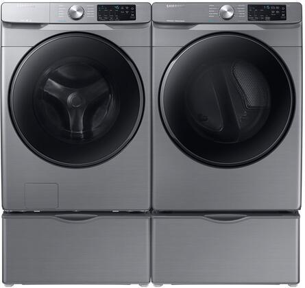 Samsung  1154684 Washer & Dryer Set Platinum, 1