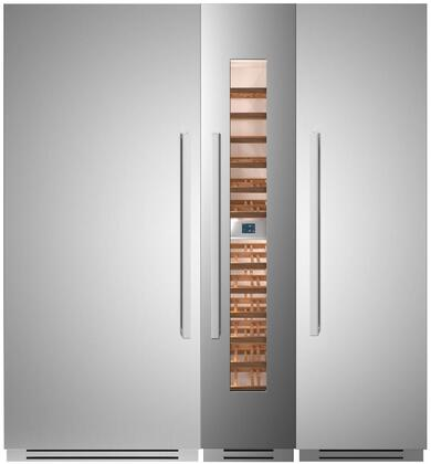 Bertazzoni  1309128 Column Refrigerator & Freezer Set Stainless Steel, 1