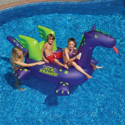 NT1552 Giant Sea Dragon 9-ft Inflatable Ride-On Pool -  Swimline