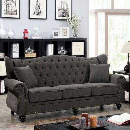Furniture of America Edmore CM6572DGSF Stationary Sofa Gray, CM6572DG-SF