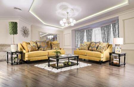 Furniture of America Viscontti SM2201SL Living Room Set Gold, main image
