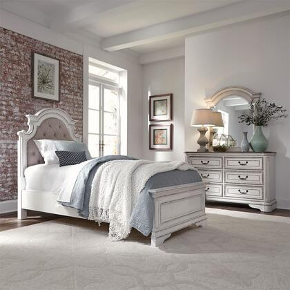 Liberty Furniture Magnolia Manor 244-YBR-FUB3SET Bedroom Set White, 3 Bedroom Set