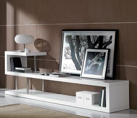 VIG Furniture Modrest VGKCWIN5 52 in. and Up TV Stand White, TV Stand