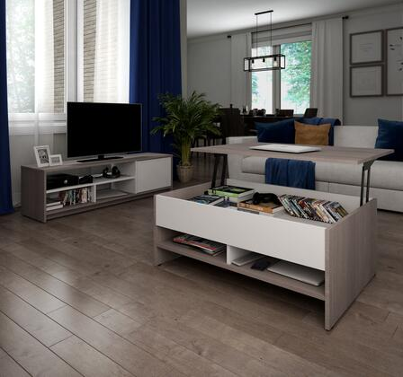 Bestar Furniture Small Space 1685047 52 in. and Up TV Stand, 16850 47