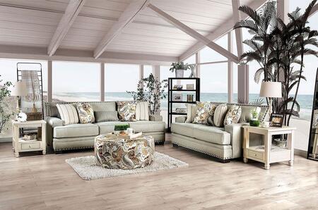 Furniture of America Begley SM8300SF3SET Living Room Set White, Living Room Set