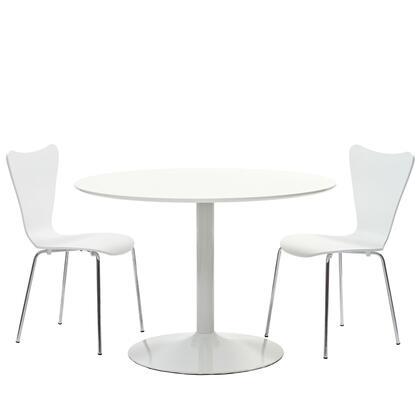 Modway Revolve EEI887 Dining Room Set White, White