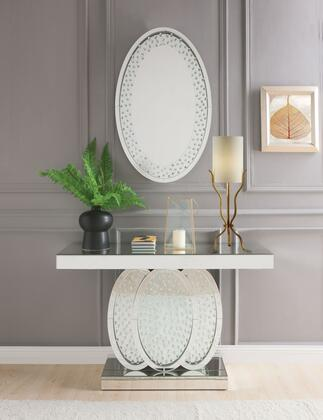 Acme Furniture Nysa 90320SET Console Silver, Console Table and Mirror
