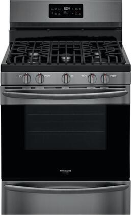 Frigidaire  GCRG3038AD Freestanding Gas Range Black Stainless Steel, Main Image