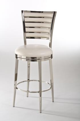 5319-831 Rouen 48 PU Leather Upholstery Upholstered Swivel Bar Stool with Metal Frame in Shiny