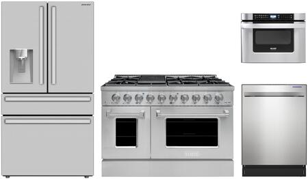 SHARP  1500596 Kitchen Appliance Package Stainless Steel, Main Image