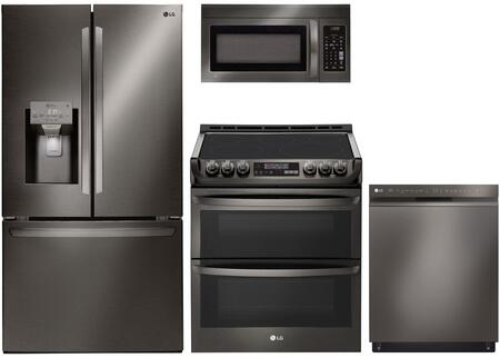 LG 989085 Kitchen Appliance Package & Bundle Black Stainless Steel, main image
