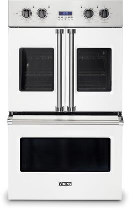 Viking 7 Series VDOF7301WH Double Wall Oven White, Front view