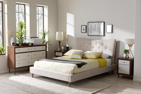 Baxton Studio Hannah BBT6570BEIGEKING Bed Beige, BBT6570 Beige Queen 5