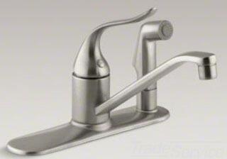 Kohler Coralais K15173FBN Faucet Silver, Image 1