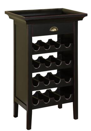Powell 502426 Wine Rack Black, Main Image