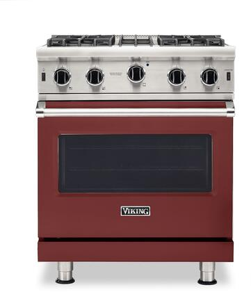 Viking 5 Series VGIC53024BRELP Freestanding Gas Range Red, VGIC53024BRELP Gas Range