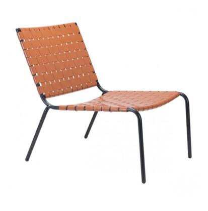 Zuo Beckett 703903 Lounge Chair Orange, 703903 Front