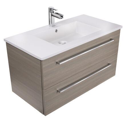 Cutler Kitchen and Bath Silhouette FVARIA36 Sink Vanity Brown, Main Image