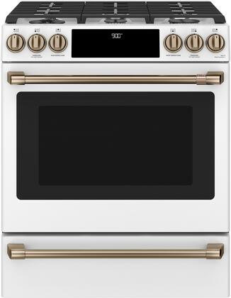 Cafe Matte Collection C2S900P4MW2 Slide-In Dual Fuel Range White, Main Image