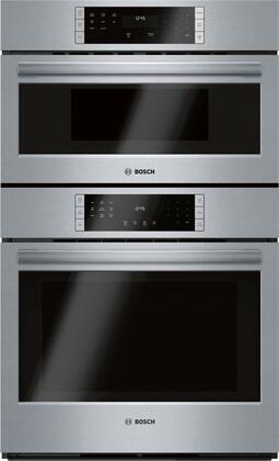 Bosch 800 Series HBL87M53UC Double Wall Oven Stainless Steel, Main Image