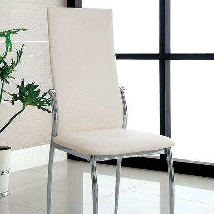 Furniture of America Kalawao CM8310WHSC2PK Dining Room Chair White, Main Image