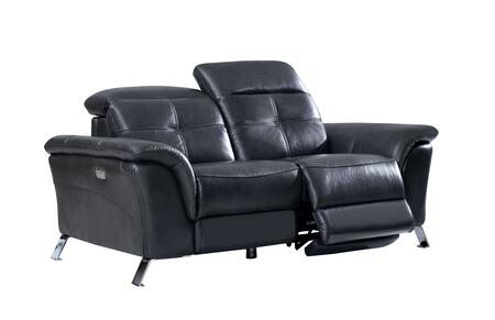 ESF  26192 Loveseat Gray, Living Room Furniture Sofas Loveseats and Chairs 2619 with Electric Recliner side 2