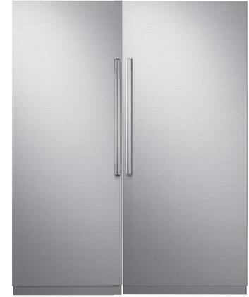 Dacor Modernist 772320 Column Refrigerator & Freezer Set Silver Stainless Steel, 1