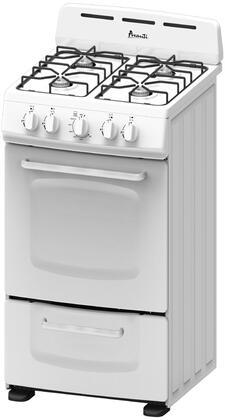 Avanti  GRO20P0W Freestanding Gas Range White, Main Image
