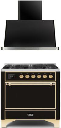 Ilve  1260055 Kitchen Appliance Package Black, Main image