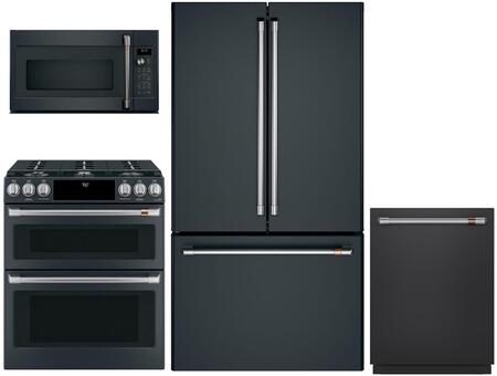 Cafe Matte Collection 1065163 Kitchen Appliance Package Matte Black, Main image