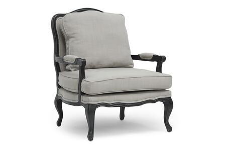 Wholesale Interiors Antoinette 52348BEIGE Accent Chair Gray, 52348BEIGE
