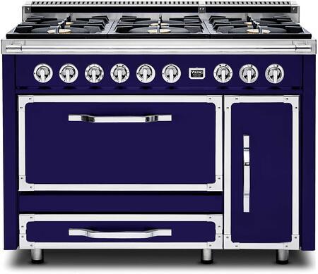Viking Tuscany TVDR4806BDB Freestanding Dual Fuel Range Blue, Main Image