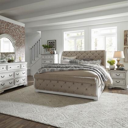 Liberty Furniture Magnolia Manor 244BRKUSLDMCN Bedroom Set White, 244 br qusldmcn