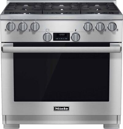 Miele DirectSelect HR11341G Freestanding Gas Range Stainless Steel, 1
