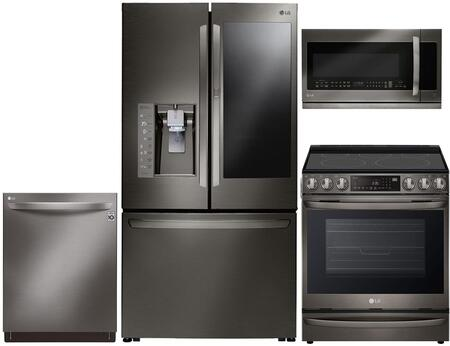 LG 959308 Kitchen Appliance Package & Bundle Black Stainless Steel, main image