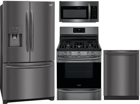 Frigidaire  851462 Kitchen Appliance Package Black Stainless Steel, Main image