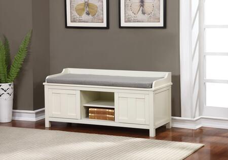 Linon Lakeville 840212WHT01U Bench, 840212WHT01U Lakeville White Storage Bench Lifestyle