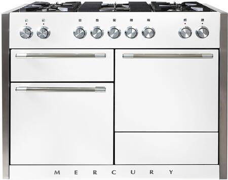 AGA Mercury AMC48DFWHT Freestanding Dual Fuel Range White, Main Image