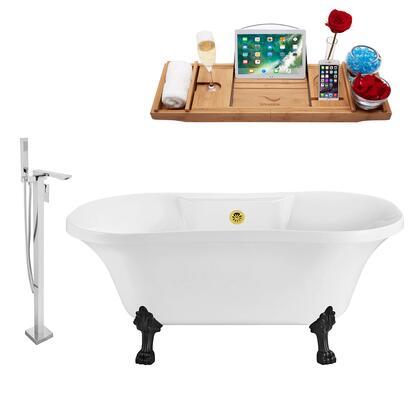 Streamline NH100BLGLD140 Bath Tub, NH100BL GLD 140 1T
