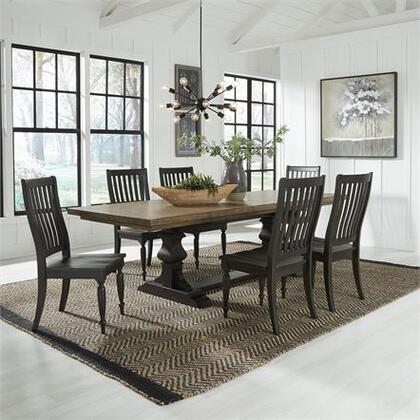Liberty Furniture Harvest Home 879DR7TRS Dining Room Set Brown, 879 dr 7trs Main