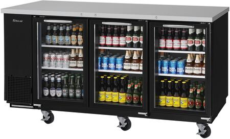 TBB-24-72SG-N 74″ Super Deluxe Series Narrow Back Bar with 20.62 cu. ft. Capacity  Hydrocarbon Refrigerants  Forced Air Cooling System and LED