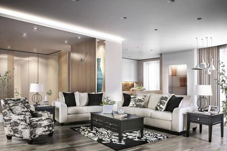 Furniture of America Barnett SM5205IVSF3SET Living Room Set Beige, Living Room Set