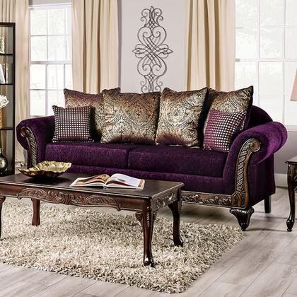 Furniture of America Casilda SM7743SF Stationary Sofa Purple, sm7743 sf 1